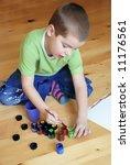 boy painting | Shutterstock . vector #11176561