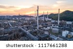 industrial view at oil refinery ... | Shutterstock . vector #1117661288
