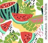 minimal summer trendy vector... | Shutterstock .eps vector #1117673036