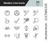 sport icons. modern line design ... | Shutterstock .eps vector #1117681235