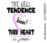 stylish trendy slogan tee t... | Shutterstock .eps vector #1117684025