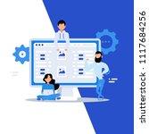 business characters. teamwork ...   Shutterstock .eps vector #1117684256