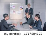 business coach. listening... | Shutterstock . vector #1117684322