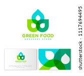 green food logo. grocery store... | Shutterstock .eps vector #1117694495