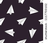 paper airplane seamless pattern | Shutterstock .eps vector #1117703102