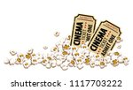 cinema tickets for movie... | Shutterstock .eps vector #1117703222