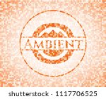 ambient abstract orange mosaic... | Shutterstock .eps vector #1117706525