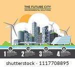 smart eco city banner ...   Shutterstock .eps vector #1117708895