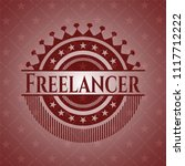 freelancer red emblem. retro   Shutterstock .eps vector #1117712222