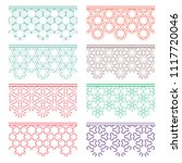 set of colorful seamless...   Shutterstock .eps vector #1117720046