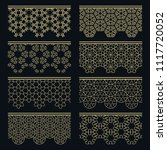 set of golden seamless borders  ...   Shutterstock .eps vector #1117720052