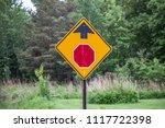 stop sign ahead traffic symbol...   Shutterstock . vector #1117722398
