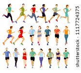 group of runners collection | Shutterstock .eps vector #1117724375