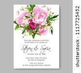 wedding invitation vector...   Shutterstock .eps vector #1117725452