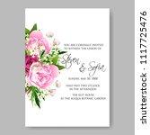 wedding invitation vector...   Shutterstock .eps vector #1117725476