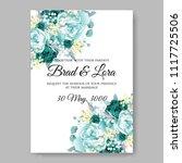 wedding invitation vector...   Shutterstock .eps vector #1117725506