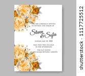 wedding invitation vector...   Shutterstock .eps vector #1117725512