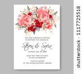 wedding invitation vector... | Shutterstock .eps vector #1117725518