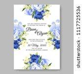 wedding invitation vector...   Shutterstock .eps vector #1117725536