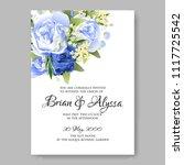 wedding invitation vector...   Shutterstock .eps vector #1117725542