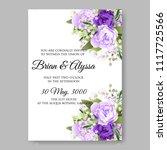 wedding invitation vector...   Shutterstock .eps vector #1117725566
