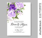wedding invitation vector...   Shutterstock .eps vector #1117725572