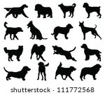 Stock vector set of dogs silhouette vector 111772568