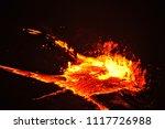 lava lake of erta ale volcano | Shutterstock . vector #1117726988