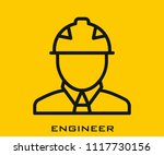 engineer icon signs | Shutterstock .eps vector #1117730156