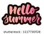hello summer text lettering...   Shutterstock .eps vector #1117730528