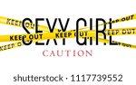 sexy girl typography slogan... | Shutterstock .eps vector #1117739552