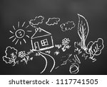 children's drawings. elements... | Shutterstock .eps vector #1117741505