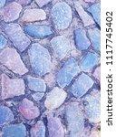 rustic pebble rock texture... | Shutterstock . vector #1117745402