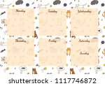 funny personal weekly planner... | Shutterstock .eps vector #1117746872