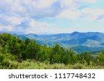 summer high view mountain... | Shutterstock . vector #1117748432