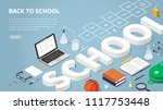 back to school themed landing... | Shutterstock .eps vector #1117753448