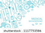 medical background. flat style. ... | Shutterstock .eps vector #1117753586