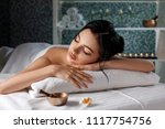 relaxed beautiful young woman... | Shutterstock . vector #1117754756