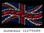 waving uk flag collage composed ... | Shutterstock . vector #1117755395