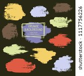 vector paint brush spots  hand... | Shutterstock .eps vector #1117756226