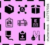simple 9 icon set of medicine... | Shutterstock .eps vector #1117757036