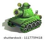 tank  military machine isolated ... | Shutterstock .eps vector #1117759418