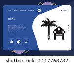 quality one page rent website... | Shutterstock .eps vector #1117763732