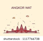 Angkor Wat Skyline  Cambodia....