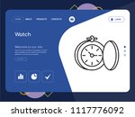quality one page watch website... | Shutterstock .eps vector #1117776092