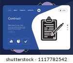 quality one page contract... | Shutterstock .eps vector #1117782542