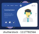 quality one page commentator... | Shutterstock .eps vector #1117782566