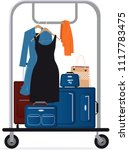 hotel baggage cart with luggage ...   Shutterstock .eps vector #1117783475