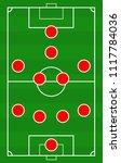 vector soccer field with the... | Shutterstock .eps vector #1117784036