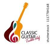 musical logo. silhouette of a... | Shutterstock .eps vector #1117784168